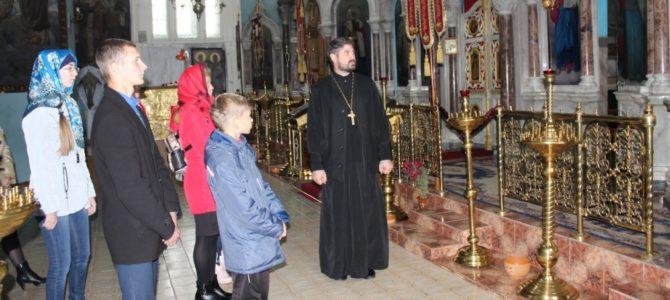 Ученики иконописного кружка «Образок» в Борисовском храме